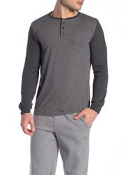 Unsimply Stitched - Contrast Sleeve Baseball Henley - Lyst