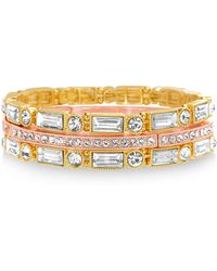 Catherine Malandrino - Two-tone 3-row Stretch Bracelet Set - Lyst