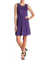 Joe Fresh - Crochet Floral Neckline Dress - Lyst