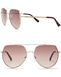 Guess - 58mm Aviator Sunglasses - Lyst
