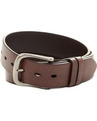 Will Leather Goods - Leather Flat Strap Harness Buckle Belt - Lyst