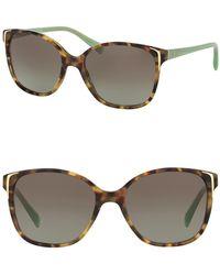 Prada - Square Catwalk 55mm Sunglasses - Lyst