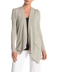 ANAMÁ - Open Front Striped Cardigan - Lyst