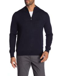 Brooks Brothers - Merino Wool Blend Zip Pullover - Lyst