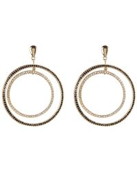 Jessica Simpson - Embellished Double Circle Drop Stud Earrings - Lyst