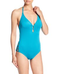 Laundry by Shelli Segal - Plunge One-piece Swimsuit - Lyst