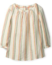 30a11ab467 Boden - Katie Striped Linen Peasant Top - Lyst