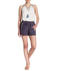 Skies Are Blue - Patterned Woven Shorts - Lyst
