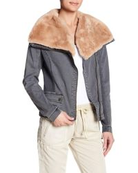 Marrakech - Lin Faux Fur Collar Twill Jacket - Lyst
