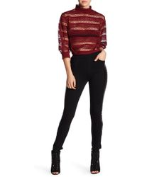 Gracia | Faux Leather Layered Legging | Lyst