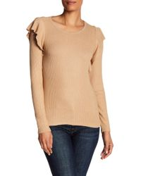 Lucky Brand - Ribbed Knit Ruffle Top - Lyst