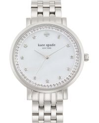 Kate Spade - 'monterey' Crystal Dial Bracelet Watch, 38mm - Lyst