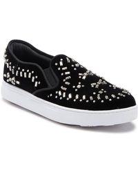 Joy & Mario - Davenport Embellished Velvet Sneaker - Lyst