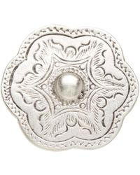 TMRW STUDIO - Engraved Medallion Adjustable Ring - Lyst