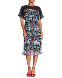 Eva Franco - Ava Floral Embroidered Midi Dress - Lyst