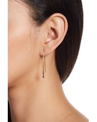 Rebecca Minkoff - Pave Multicolored Crystal Threader Earrings - Lyst