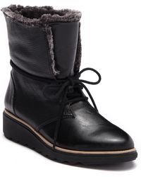 Clarks - Sharon Pearl Faux Fur Lined Wedge Boot - Lyst