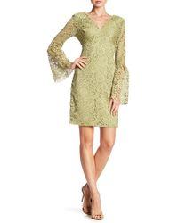 Betsey Johnson - Lace V-neck Bell Sleeve Dress - Lyst