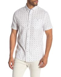 Report Collection - White Ground Anchor Print Short Sleeve Shirt - Lyst