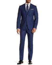 Original Penguin - High Blue Sharkskin Wool Blend Slim Fit Suit - Lyst