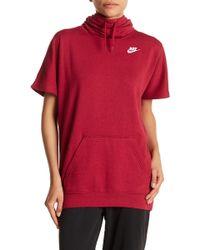 Nike - Short Sleeve Fleece Hoodie - Lyst