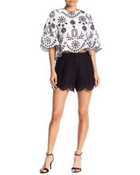 Do+Be Collection - Eyelet Lace Shorts - Lyst