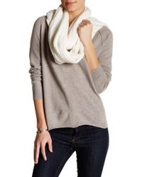 INHABIT - Cashmere Blend Cable & Chain Link Knit Scarf - Lyst