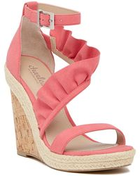 Charles David | Brooke Ruffled Espadrille Wedge Sandal | Lyst
