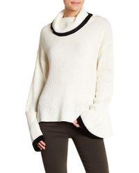 Lush - Contrast Trim Cowl Neck Sweater - Lyst