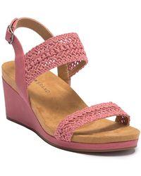 Lucky Brand - Koenn Platform Wedge Crochet Sandal - Lyst