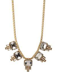 Loren Hope - Alex Emerald Cut Charm Box Chain Necklace - Lyst