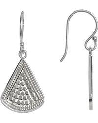 Anna Beck - Sterling Silver Fan Drop Earrings - Lyst