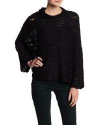 INHABIT - Sunset Bell Sleeve Open Knit Sweater - Lyst
