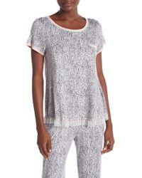 Kensie - Printed Chest Pocket Pajama Tee - Lyst