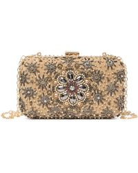 G-Lish - Floral Beaded Clutch - Lyst