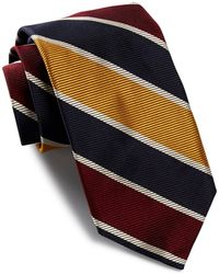 Robert Talbott - Tri-tone Diagonal Striped Silk Tie - Lyst