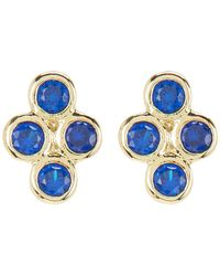 Shashi - 18k Yellow Gold Plated Sterling Silver Crystal Cluster Stud Earrings - Lyst