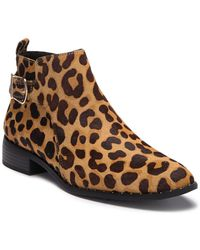 Steven by Steve Madden - Cain Leopard Print Genuine Calf Hair Boot - Lyst