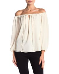 79dc6e6f064 Lyst - Cece by Cynthia Steffe Ruched Off-the-shoulder Blouse in White