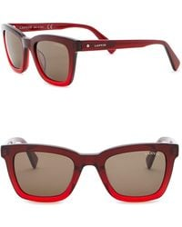 Lanvin - 49mm Acetate Square Sunglasses - Lyst