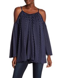 Go Couture - Cold Shoulder Top - Lyst