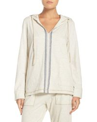 Lucky Brand - Cotton Blend Lounge Hoodie - Lyst