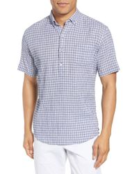 Zachary Prell - Nicomini Trim Fit Plaid Popover Sport Shirt - Lyst