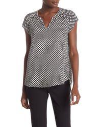 244a2763045169 Pleione - Sofia Shirred Cap Sleeve Top - Lyst