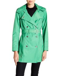 Tommy Hilfiger - Trapunto Hooded Trench Coat - Lyst