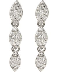 Bony Levy - 18k White Gold Pave Diamond Triple Drop Earrings - 0.32 Ctw - Lyst