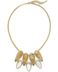 Cole Haan - 12k Gold Plated Multi Stone Chunky Pendant Necklace - Lyst