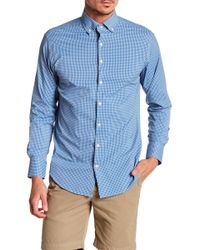 Peter Millar - Statler Chequered Performance Athletic Fit Shirt - Lyst