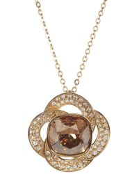 Swarovski - Agility Crystal Golden Shadow Pendant Necklace - Lyst