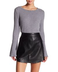 W118 by Walter Baker - Ribbed Bell Sleeve Sweater - Lyst